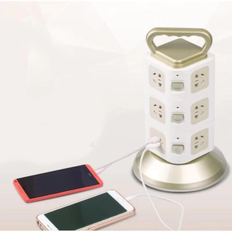 Bảng giá Mua Ổ cắm điện 3 tầng 11 chân cắm đa năng 2 cổng USB sạc điện thoại