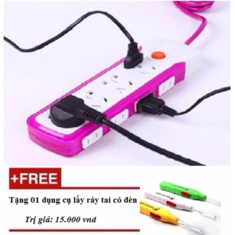 Bảng giá Mua Ổ cắm điện chống giật tuyệt đối tặng dụng cụ lấy ráy tai có đèn