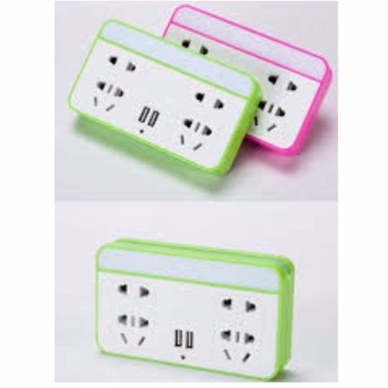 Bảng giá Mua Ổ cắm điện có đèn LED và cổng USB kiêm giá đỡ điện thoại