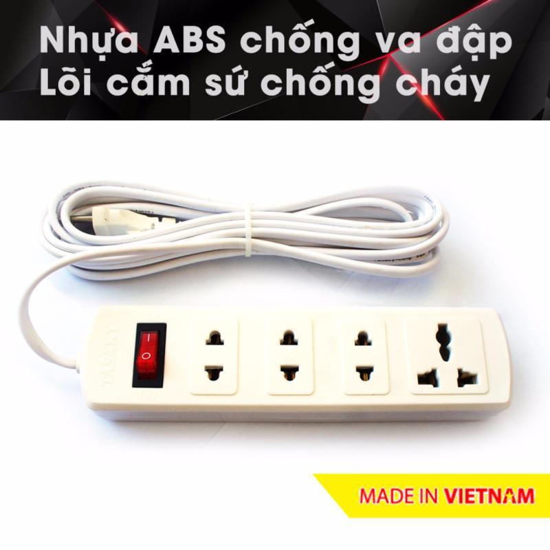Bảng giá Ổ cắm điện công suất cao chuyên cho bếp điện từ, nhựa ABS, 4.5m 4T5 (Trắng)