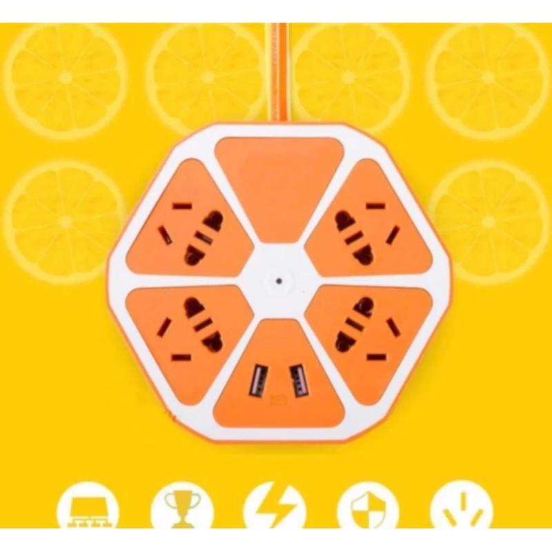 Bảng giá Ổ cắm điện đa năng lục giác có cổng USB(màu ngẫu nhiên)