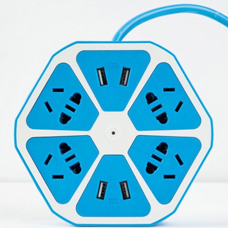 Bảng giá Mua Ổ cắm điện đa năng thông minh - tích hợp cổng USB - xanh