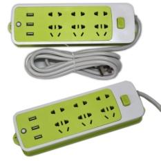Ổ cắm điện kiêm sạc điện thoại (6 phích cắm, 3 cổng USB) – Loại 1 chất lượng cao