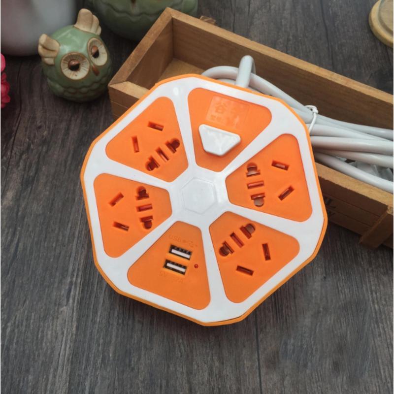 Bảng giá Ổ cắm điện mẫu mới hình trái cam có cổng USB (cam)