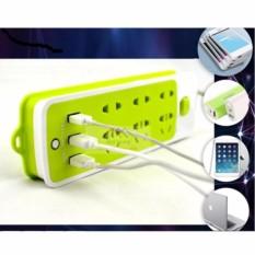 Ổ cắm điện thông minh đa năng 6 phích cắm tích hợp 3 cổng sạc USB 2A
