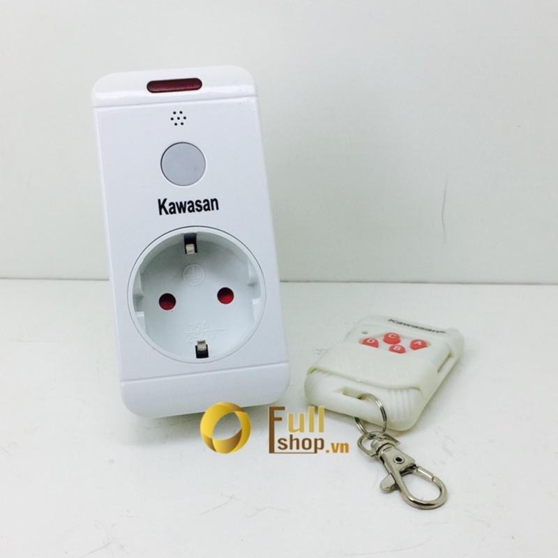 Ổ cắm điều khiển từ xa tắt mở các thiết bị điện bằng remote điều khiển, có đèn báo Kawa TB03