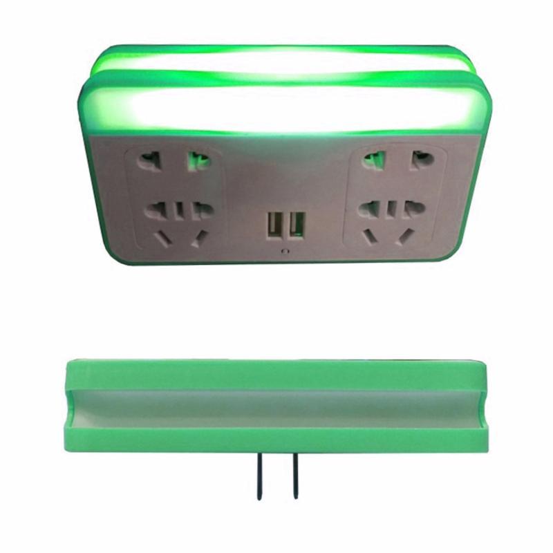 Bảng giá Ổ cắm kiêm sạc điện thoại và đèn ngủ cảm biến thế hệ mới 3in1 (Xanh lá)