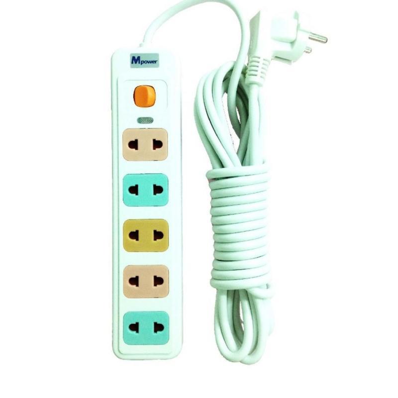 Bảng giá Mua Ổ Điện 5 ổ cắm Mpower 5m (Trắng)
