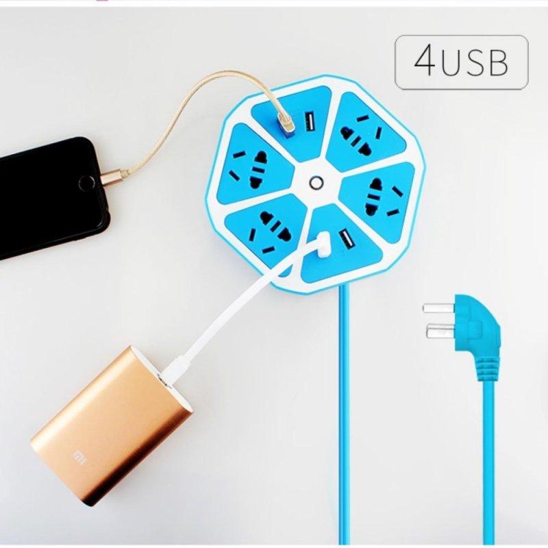 Bảng giá Mua Ổ điện đa năng lục giác 4 cổng USB