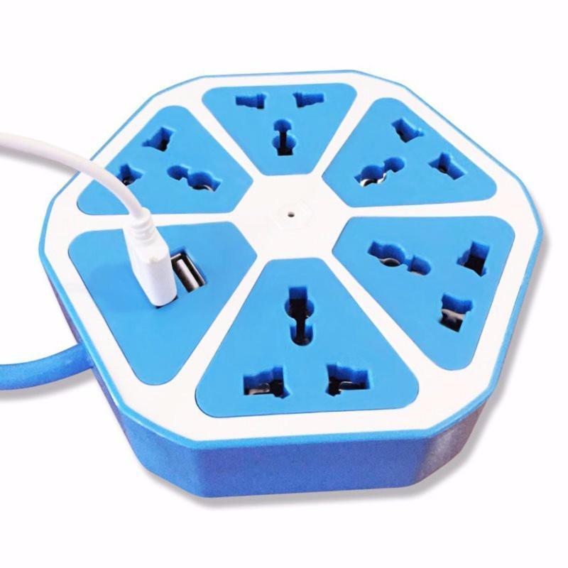 Bảng giá Ổ điện trái cam Hexagon thông minh với 2 cổng USB và 5 ổ chấu