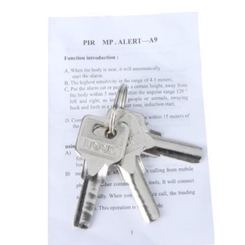 Ổ khóa báo động chống trộm có còi báo T510I 2(trắng)
