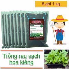 Phân bón cho rau sạch hoa kiểng Vermy (8 gói 1kg)