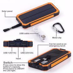 Pin sạc dự phòng năng lượng mặt trời công suất 20000 mAh 2 cổng đầu ra USB