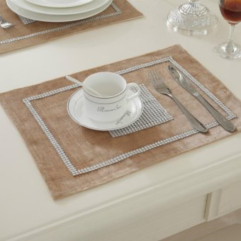 Placemat set with Diamonds Concise Style Table Decoration Table mat - intl