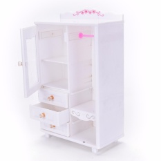 Plastic Furniture Living Room Wardrobe for Barbie Dollhouse Accessories Toy best price – intl