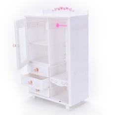 Nhựa Nội Thất Phòng Khách Tủ Quần Áo cho Búp Bê Barbie Nhà Búp Bê Phụ Kiện Đồ Chơi chất lượng cao-quốc tế