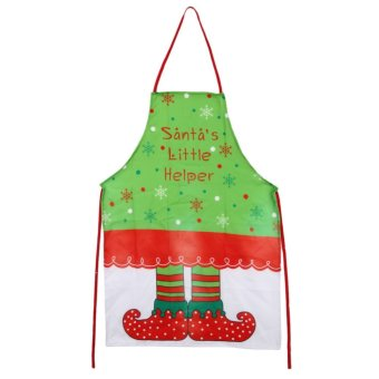 Printing Elf Girl Aprons Cute Aprons Christmas Supplies Funny Novelty - intl