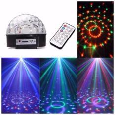 Quả cầu xoay pha lê 7 màu , đèn chiếu vũ trường mini , đèn laser nháy theo nhạc , đèn led cầu xoay 7 màu ,6 led kiêm máy nghe nhạc USB cao cấp,mẫu mới nhất năm