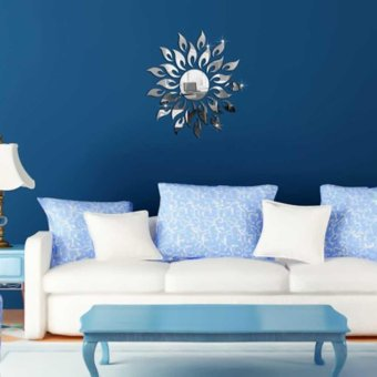 Removable Sun Flower 3D Mirror Acrylic Wall Decals Stickers Art DIY Home Decor - intl
