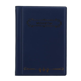 Russian Coin Album 10 Pages Units Coin Collection Book (Blue) - intl