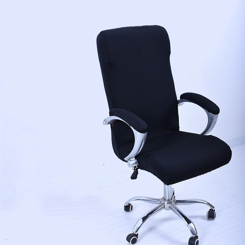 Spandex Office Chair Cover Slipcover Armrest Cover Computer Seat Cover Stool Swivel Chair Elastic(Chair is NOT included)#Black S