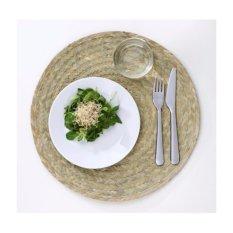 Set 10 tấm đế lót bàn ăn bằng lá buông dệt tay (Palm Slip Place Mat)-Màu xanh