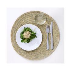 Set 5 tấm đế lót bàn ăn bằng lá buông dệt tay (Palm Slip Place Mat)-Màu xanh