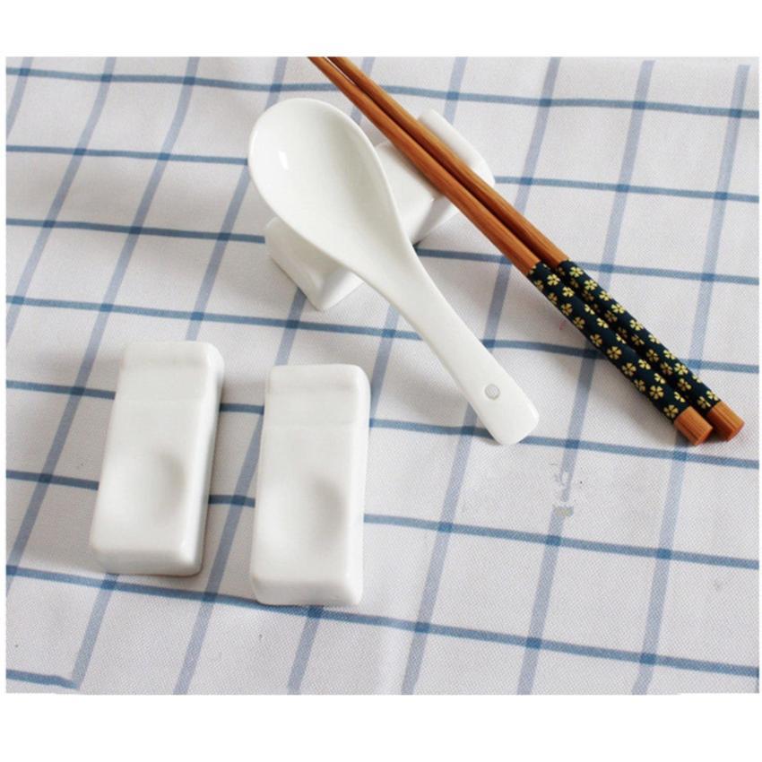 Hình ảnh Set 6 gác đũa thìa bằng sứ