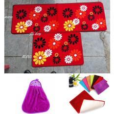 Set Thảm Đôi Nhà Bếp(60×40,120×40)+01 Khăn Lau Tay+01 Thảm San Hô Tiện Dụng