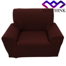 epayst Single Sofa Slipcovers Anti-mite Soft Couch Slipcovers Brown