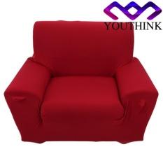 epayst Single Sofa Slipcovers Anti-mite Soft Couch Slipcovers Burgundy