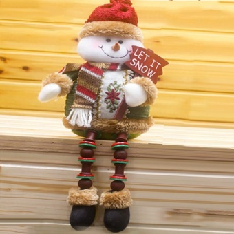 Sitting Christmas Decoration Snowman - intl