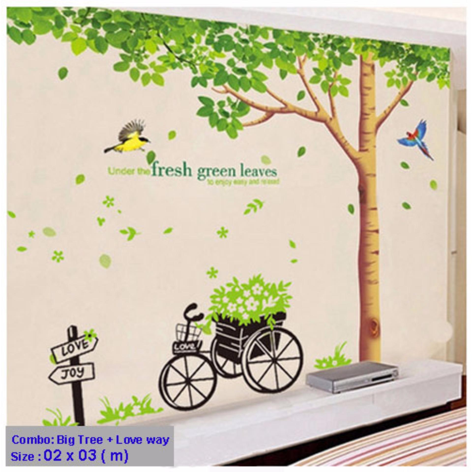 Chỗ nào bán (Size Lớn) Decal dán tường BIG TREE HPM1098