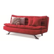 Sofa giường lật dọc Juno LD-02 (Đỏ) (Kèm 2 gối vuông)