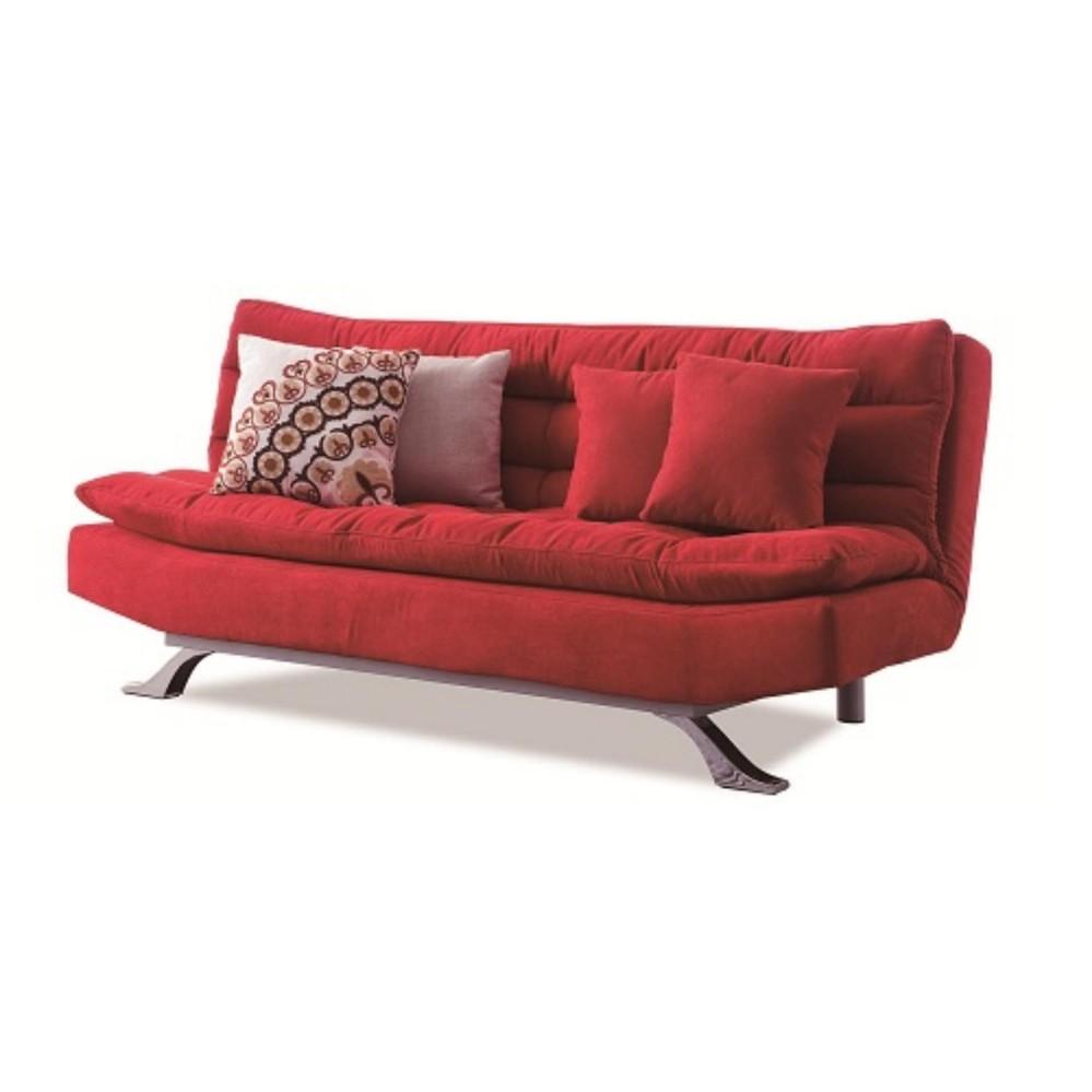 Sofa giường lật dọc Juno LD-02 (Đỏ) (Kèm 2 gối vuông) (Màu sắc: Đỏ)