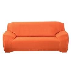 (Giao hàng miễn phí cho cả ba chiếc đến Hà Nội)Mềm mại Suốt Cả-đã bao Bọc Vải Thun Ghế Sofa Ghế Dài (Cam)-3 chỗ ngồi-quốc tế (Orange)