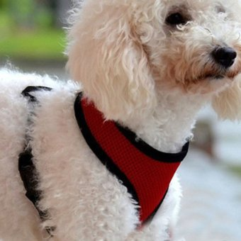 Soft Mesh Dog Harness Pet Puppy Cat Clothing Vest Red XS (Intl)