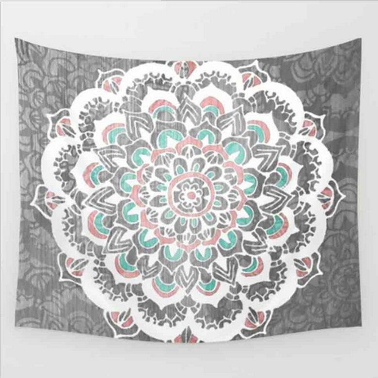 Khăn Đi Biển Hình Vuông Họa Tiết Hippie Cấp (Kích thước: 150×210 cm) -Quốc Tế