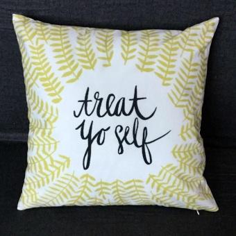 Square Pillow Cover Cushion Case Toss Pillowcase Hidden Zipper Closure - intl
