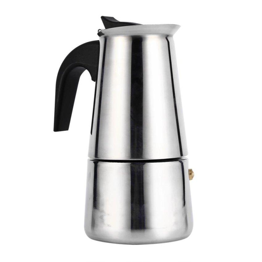 Hình ảnh Stainless Steel Percolator Moka Pot Espresso Coffee Maker Stove (200ml) - intl