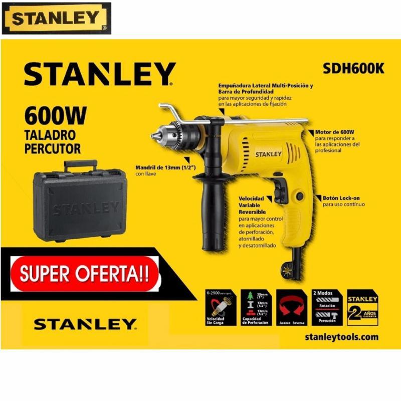STANLEY  - SDH600K  MÁY KHOAN ĐỘNG LỰC + VALI 13MM - 550W