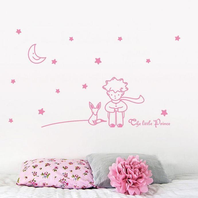 Stars Moon The Little Prince Boy Wall Sticker Home Decor WallDecals HOT - intl