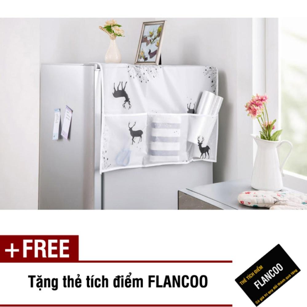 Giá Tấm phủ tủ lạnh có túi bên hông Flancoo 3691 (Trắng) + Tặng kèm thẻ tích điểm Flancoo