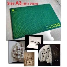[FREE SHIP HN, TPHCM, MIỀN NAM] Tấm thớt lót cắt giấy nghệ thuật Kirigami 2 mặt khổ A3 (45cm x 30cm) cao su đặc biệt tự phục hồi (DO039) – Luân Air Models