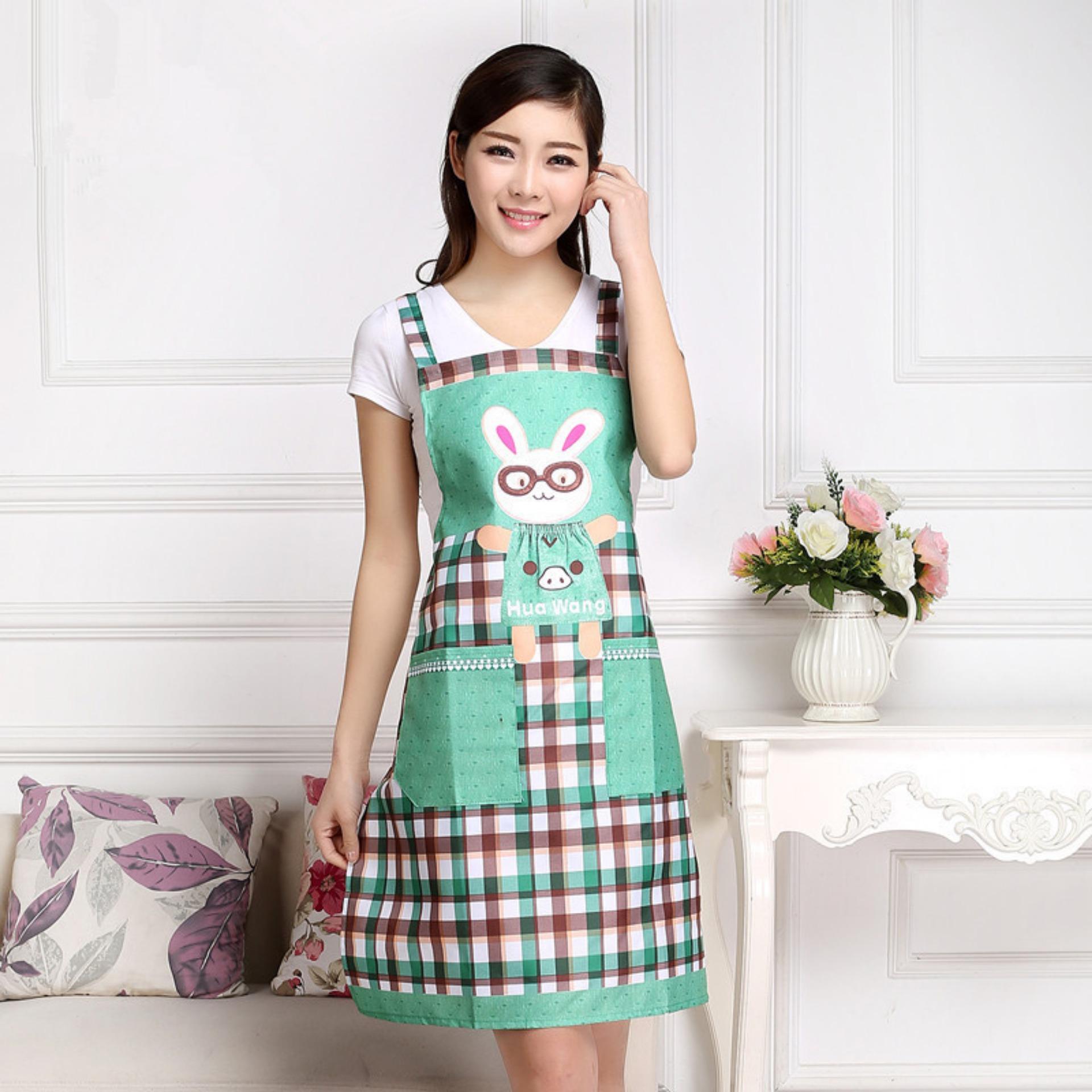 Bảng Báo Giá Tạp dề thỏ thời trang Hàn Quốc (Xanh)