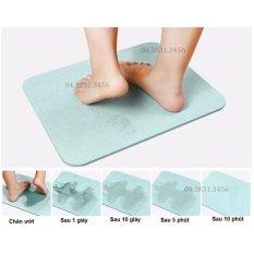Thảm cứng nhà tắm 60x39x0.9cm- Siêu thấm hút, cực nhanh khô (Xanh)