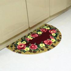 Thảm lau chân bán nguyệt hoa 3D