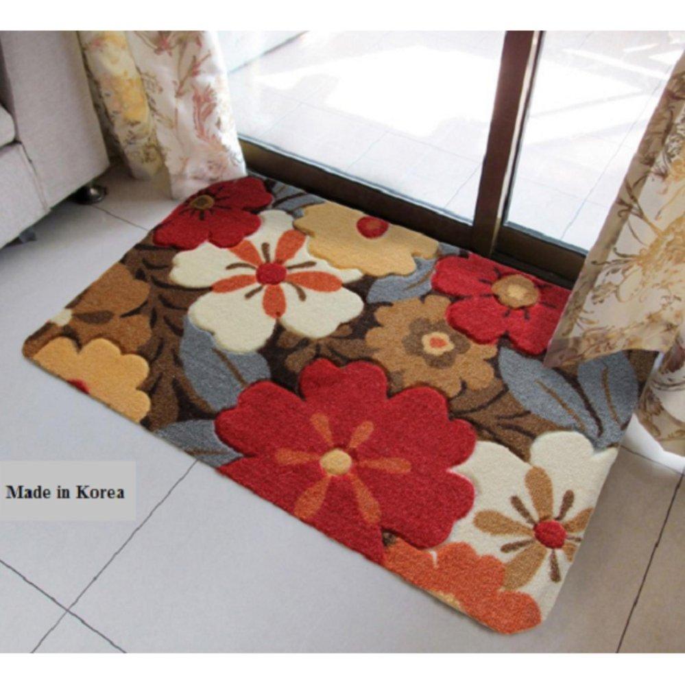 Chi tiết sản phẩm Thảm lau chân cao cấp Hàn Quốc – nhiều sắc hoa 40x60cm