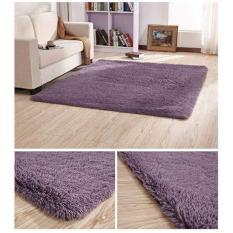 Thảm lông muji phòng khách hàng xuất nhật loại 1 kích thước 1,6 x 2 m (Tím đậm) – Kmart