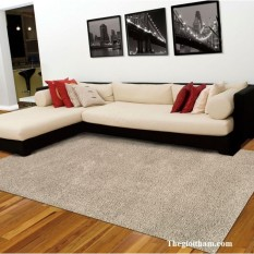 Thảm lông trải sàn phòng khách cao cấp 1m6x2m (Màu Xám) – Kmart